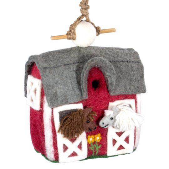 Country Stable Felt Birdhouse