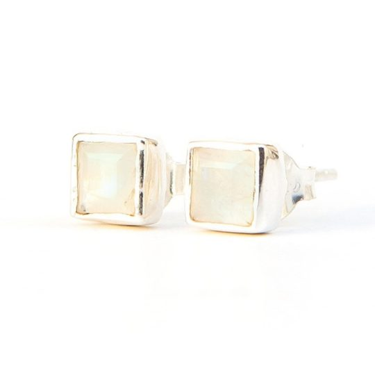 crystal waters studs moonstone