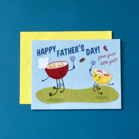 daddys little grill card