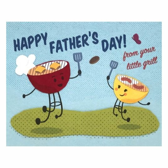 dad's little grill card