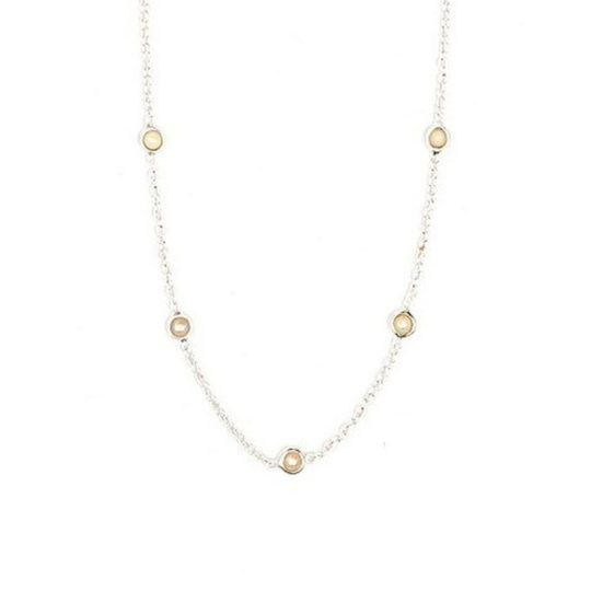 delicate pearl sterling necklace