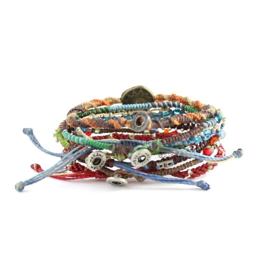 earth bracelets back