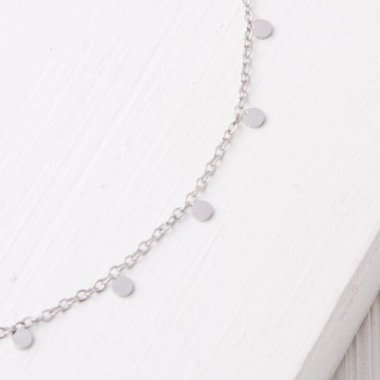 evelyn drop necklace silver close