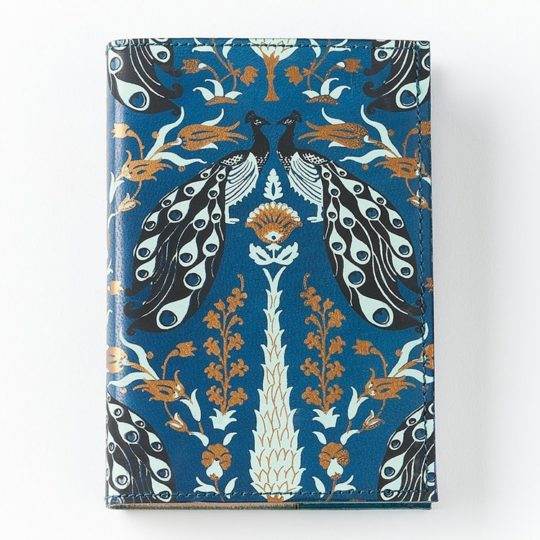 fauna leather journal blue
