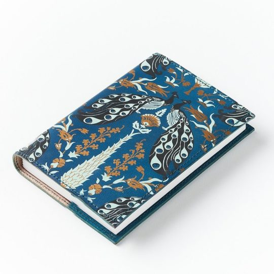fauna leather journal blue side