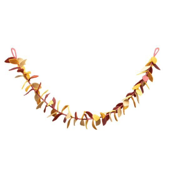 felt harvest leaf garland