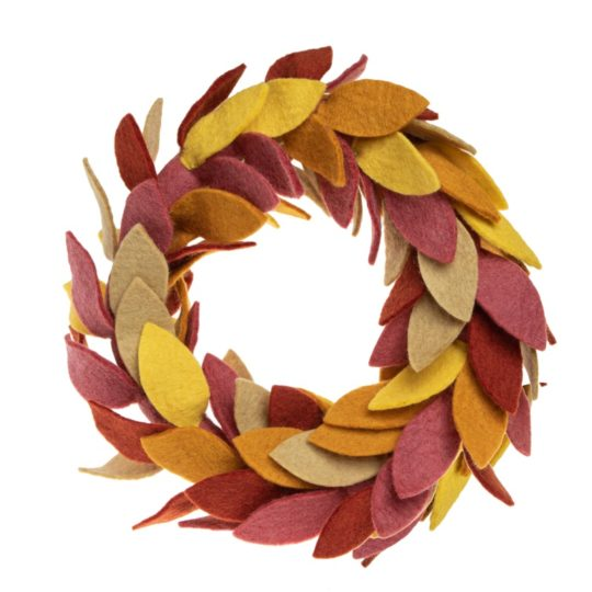 felt harvest wreath