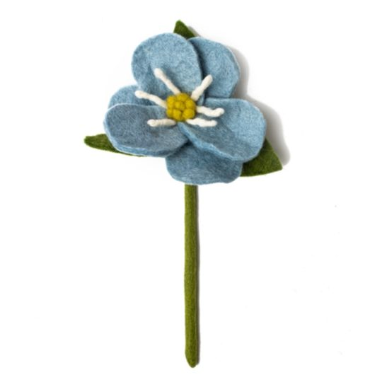 felt hepatica flower blue