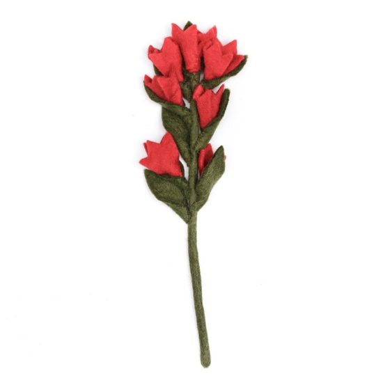 felt indian paint brush red