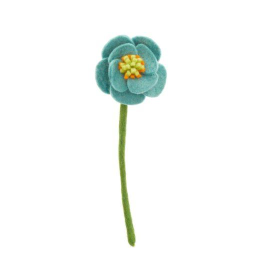 felt poppy blue