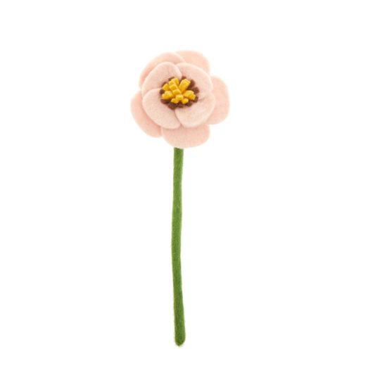 felt poppy pink