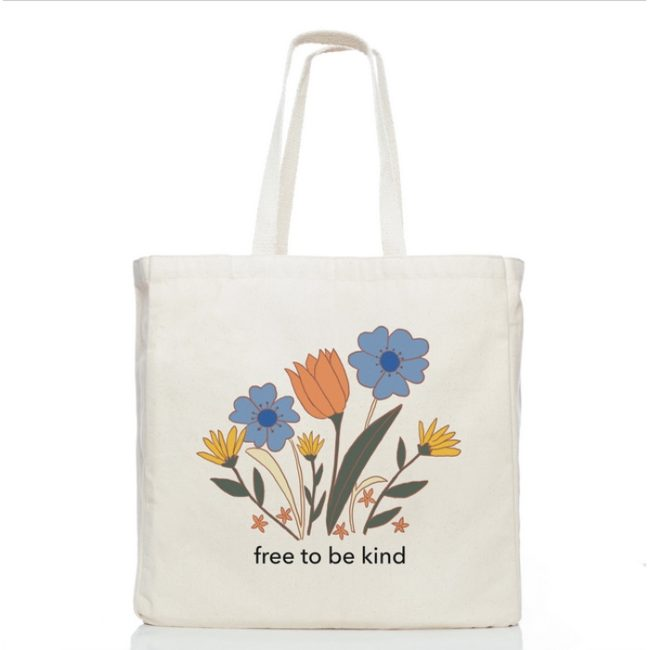 free to be kind tote
