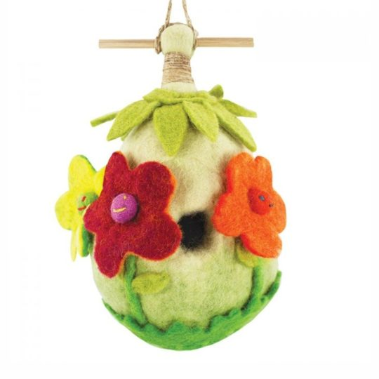 friendly-flower felt birdhouse