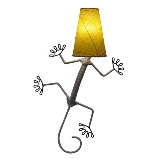 gecko leaf lamp yellow