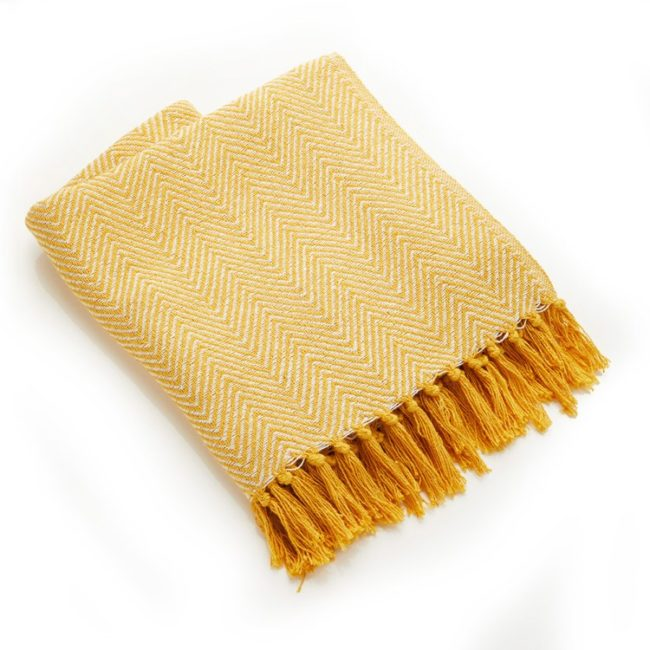 gold chevron rethread throw