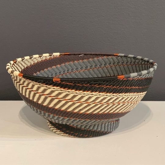 grey mist telephone wire large bowl