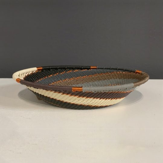 grey mist telephone wire oval bowl