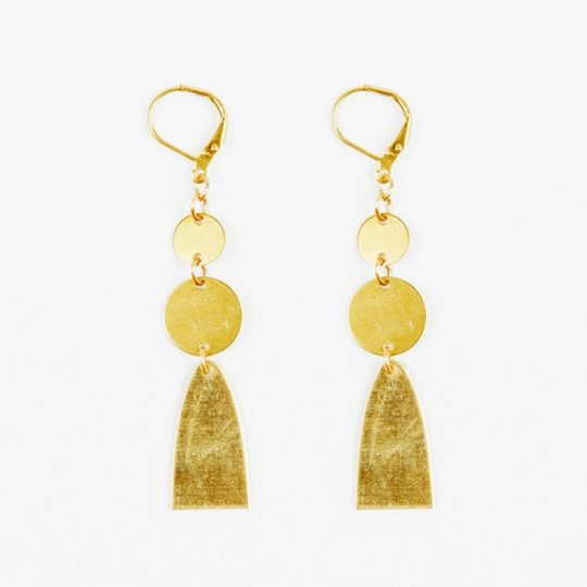 half ellipse dangle earrings