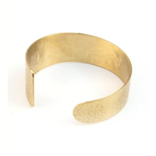 hammered cuff brass