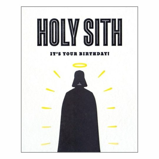 holy sith birthday card