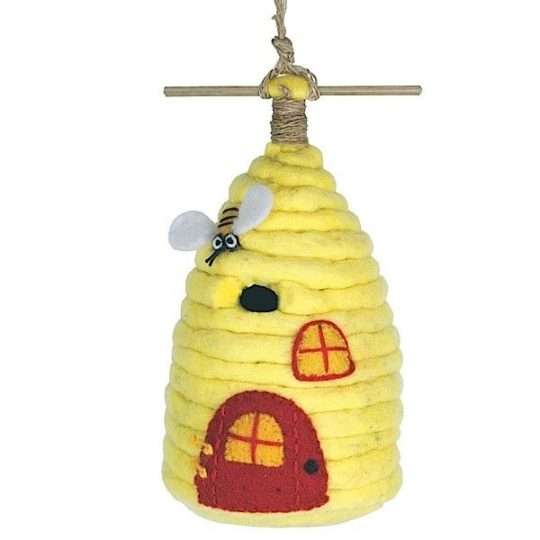 honey house felt birdhouse