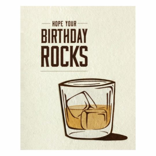 hope your birthday rocks card