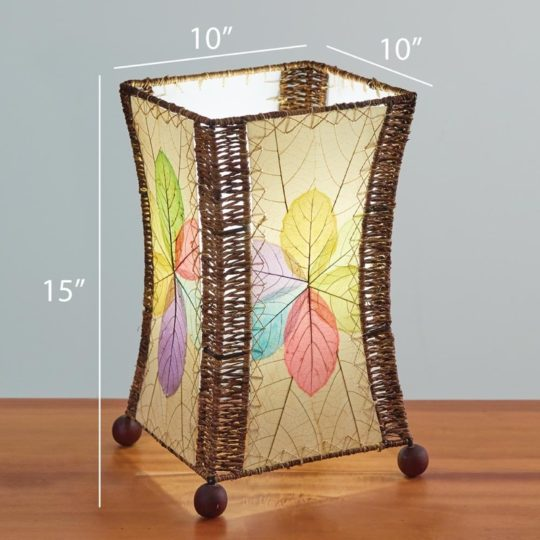 hourglass leaf table lamp dimensions