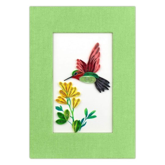 hummingbird quilled journal