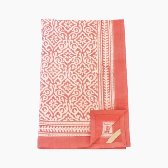 jaipur coral kitchen towel