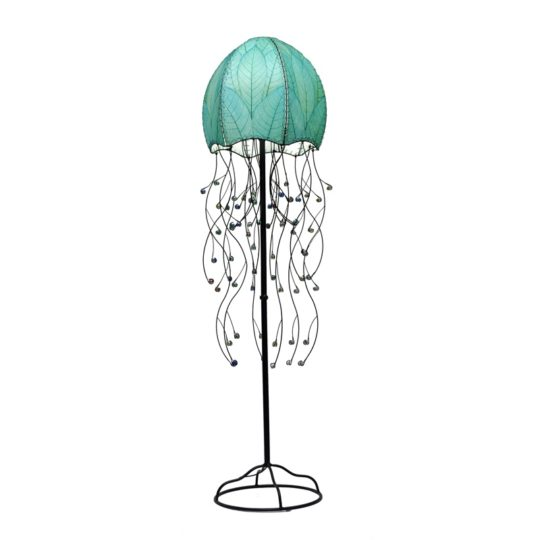 jellyfish leaf floor lamp blue