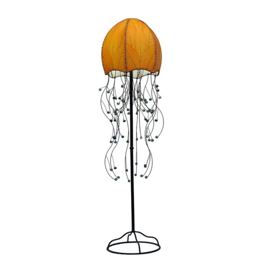 jellyfish leaf floor lamp orange