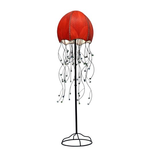 jellyfish leaf floor lamp red