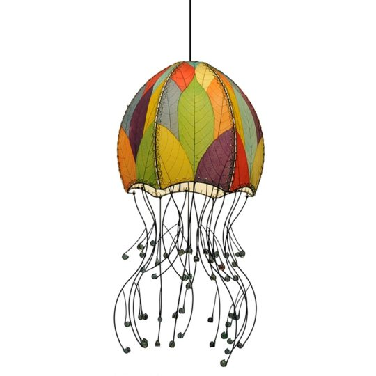 jellyfish pendant leaf lamp multi