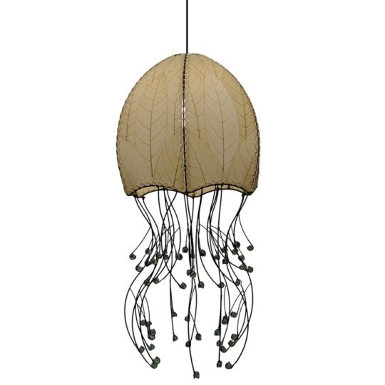 jellyfish pendant leaf lamp natural