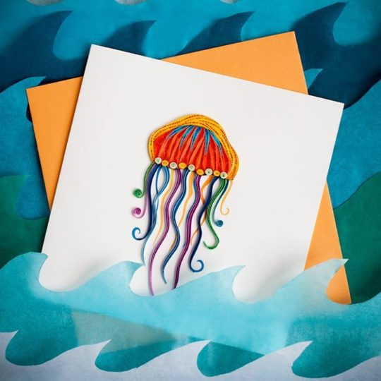 jellyfish quilling card 2