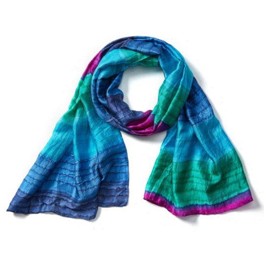 kalyani hand-painted scarf
