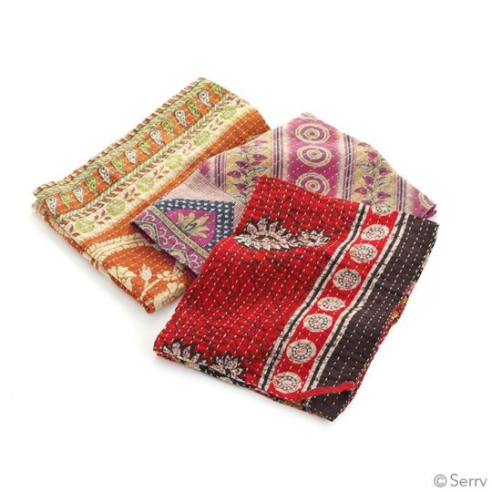 kantha dish towel set