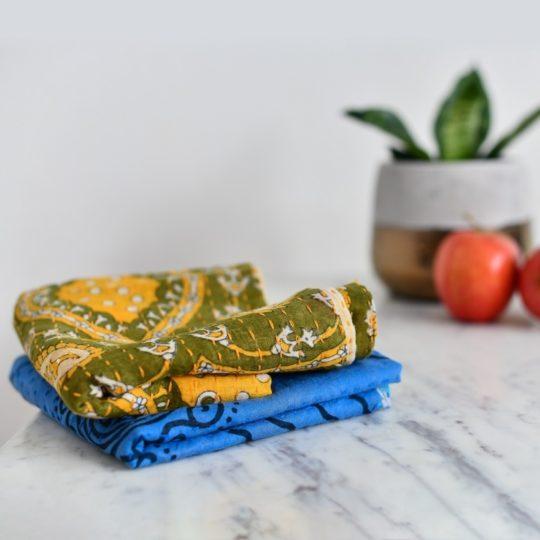kantha dish towels