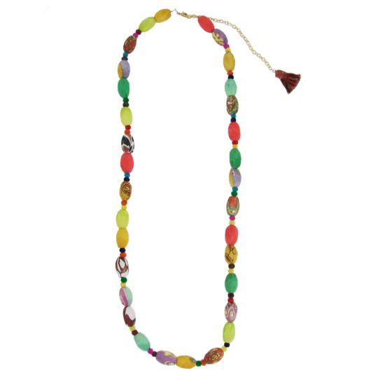 kantha kaleidescope necklace