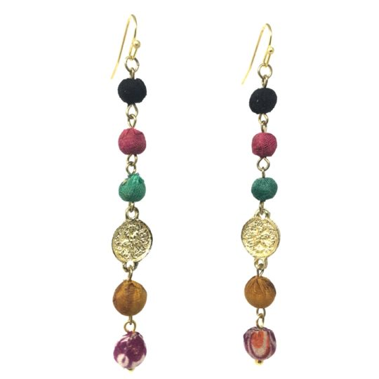 kantha raindrop earrings