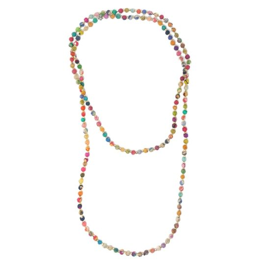 kantha signature strand necklace