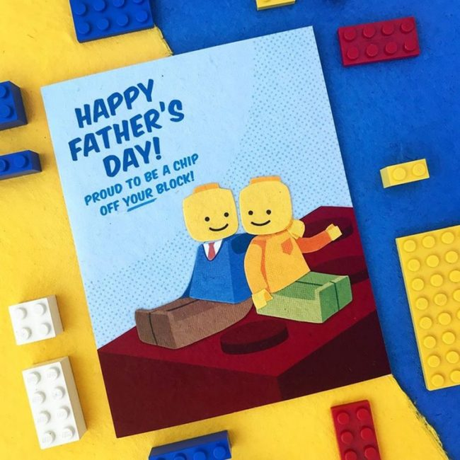 lego father's day card