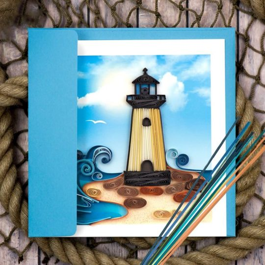 lighthouse quilling card 2
