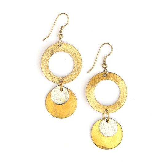 lilypad earrings gold