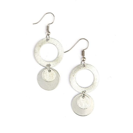 lilypad earrings silver