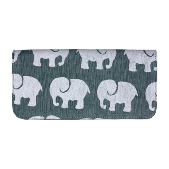 lite grey elephant long wallet