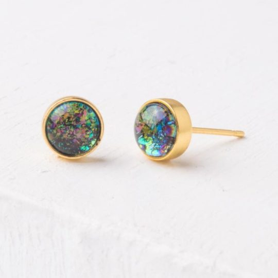 lora blue stud earrings