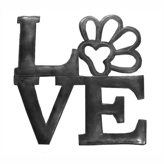 love paw square oil drum sign
