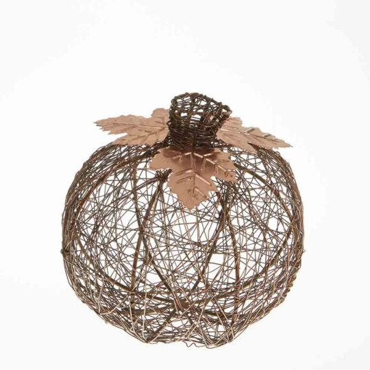 medium copper wire pumpkin