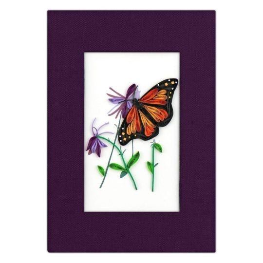 monarch butterfly quilled journal